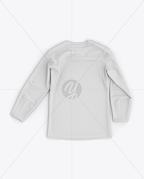 Men's Hockey Jersey Mockup - Back Top View