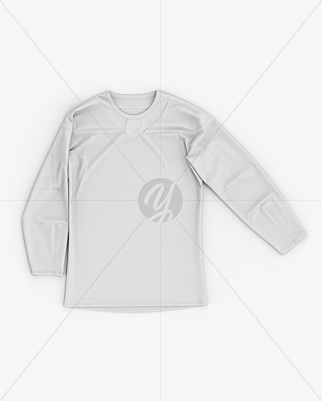 Men's Hockey Jersey Mockup - Front Top View