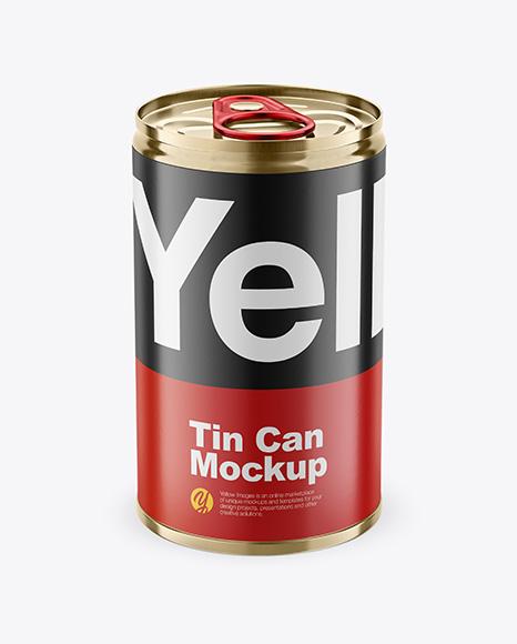 Tin Can w/ Pull Tab Mockup