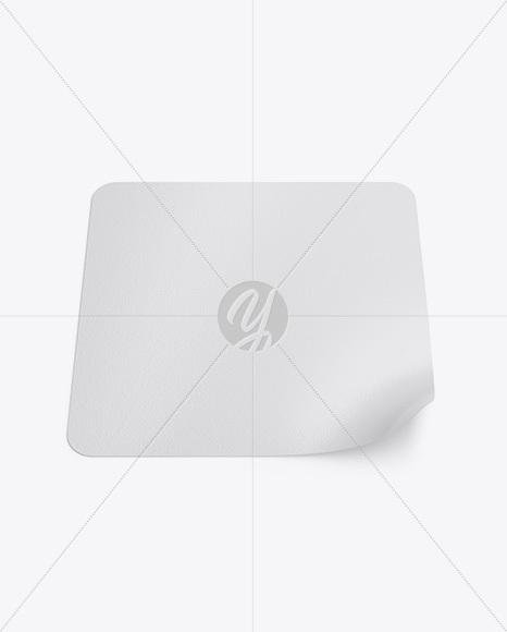 Textured Square Sticker Mockup