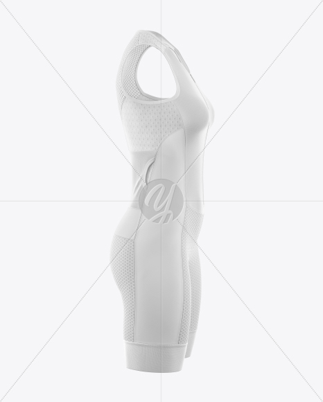 Women's Cycling Skinsuit Mockup (Side View)
