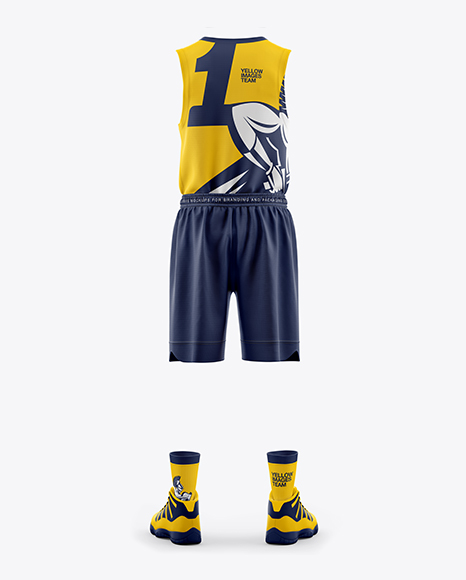 Men's Full Basketball Kit Mockup