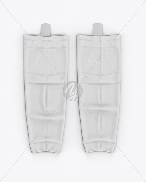 Hockey Socks Mockup - Top View