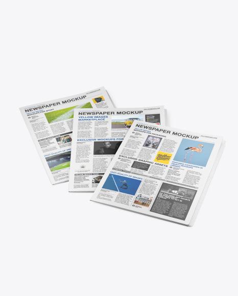 Three Newspapers Mockup