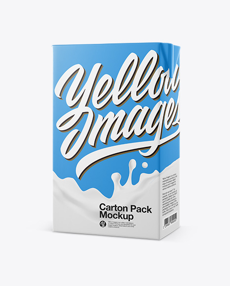 Carton Pack Mockup - Half side view