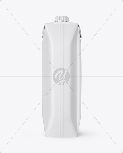 Glossy Juice Pack with Screw Cap Mockup