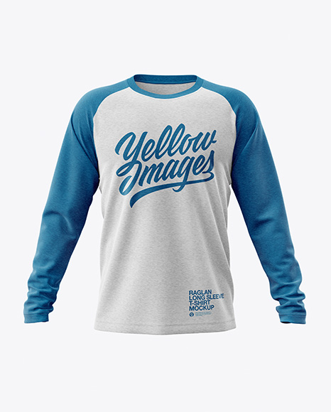 Melange Men's Raglan Long Sleeve T-Shirt