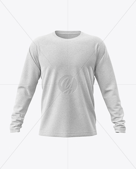 Melange Men's Raglan Long Sleeve T-Shirt Mockup