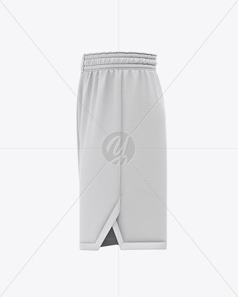 Men's Basketball Shorts Mockup - Side View