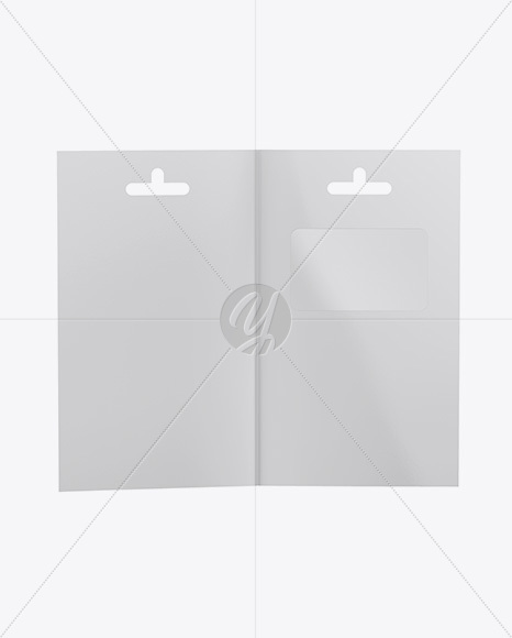Opened Paper Folder with Plastic Card Mockup