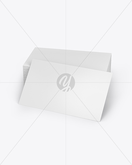 Stack Of Business Cards Mockup In Stationery Mockups On Yellow