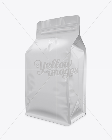Download Coffee Bag Mockup Half Side View In Bag Sack Mockups On Yellow Images Object Mockups PSD Mockup Templates