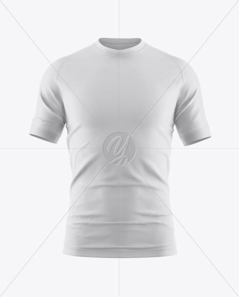 Download Crew Neck Soccer T Shirt Mockup Front View Yellow Images
