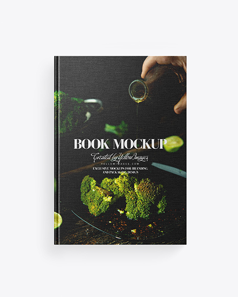 Book w/ Fabric Cover Mockup
