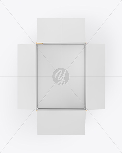 Opened Paper Box Mockup In Box Mockups On Yellow Images Object Mockups