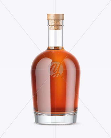 Cognac Bottle Mockup