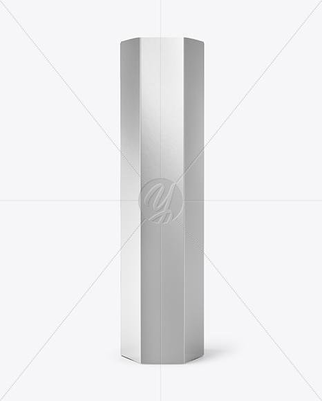 Metallized Octagonal Box Mockup
