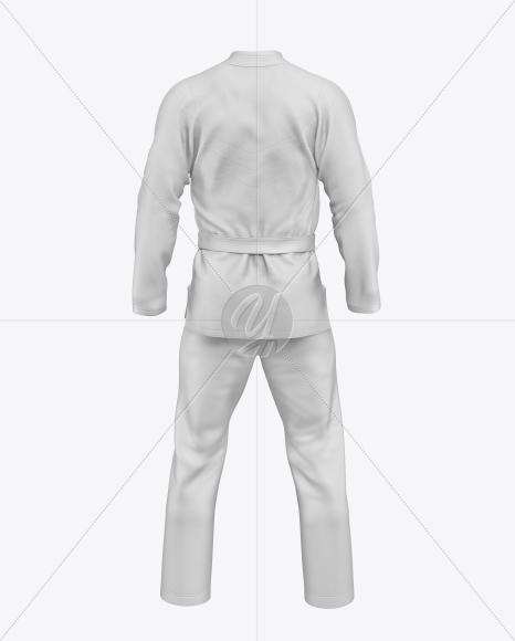 Jiu Jitsu Kimono Mockup (Back View)