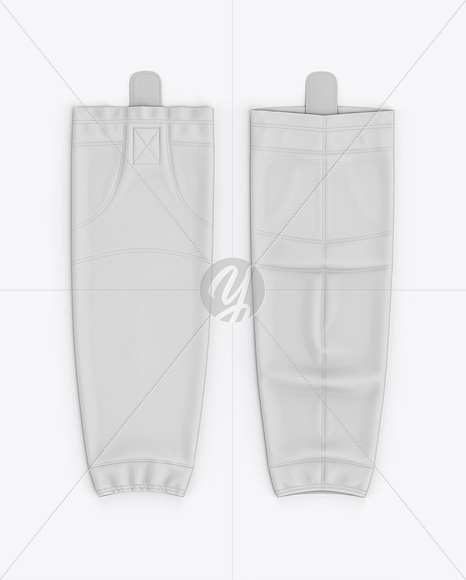 Hockey Socks Mockup - Top View