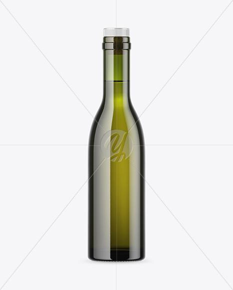 Green Glass Bottle Mockup