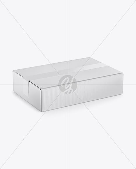 Metallized Paper Box Mockup