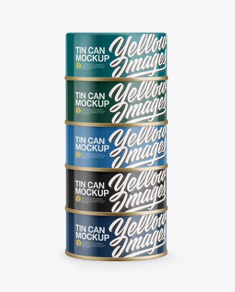 Five Cans Mockup
