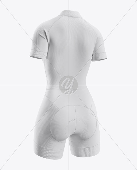 Women's Cycling Skinsuit Mockup (Half Side View)