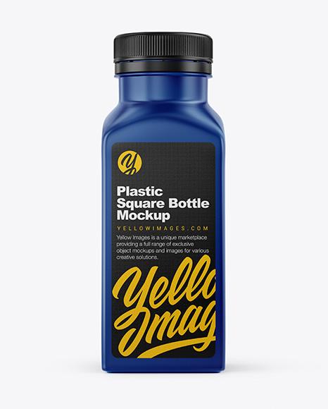 Download Square Plastic Bottle Mockup In Bottle Mockups On Yellow Images Object Mockups PSD Mockup Templates
