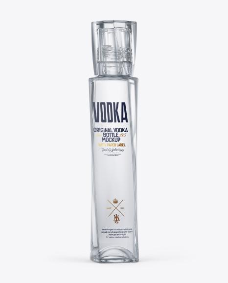 Glass Vodka Bottle Mockup
