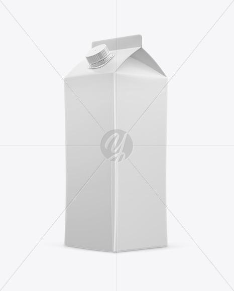 Juice Box Mockup - Half Side View