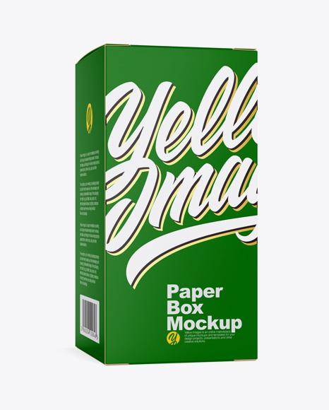 Matte Paper Box Mockup