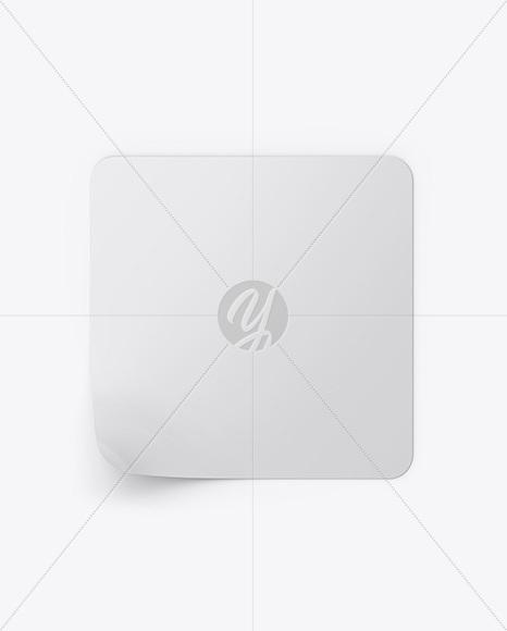 Square Sticker Mockup
