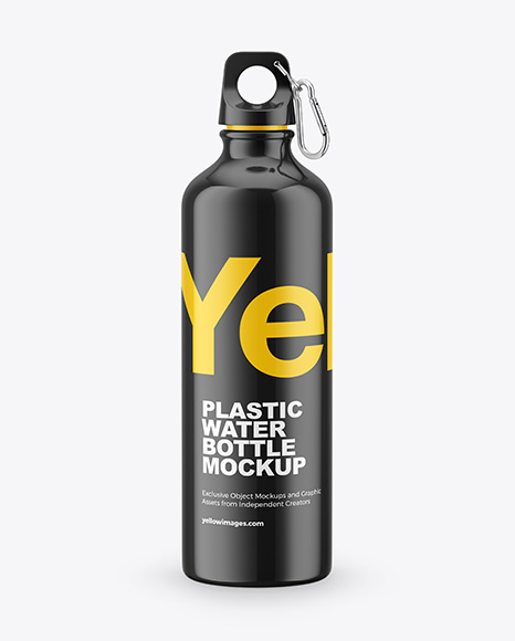 Glossy Plastic Water Bottle Mockup