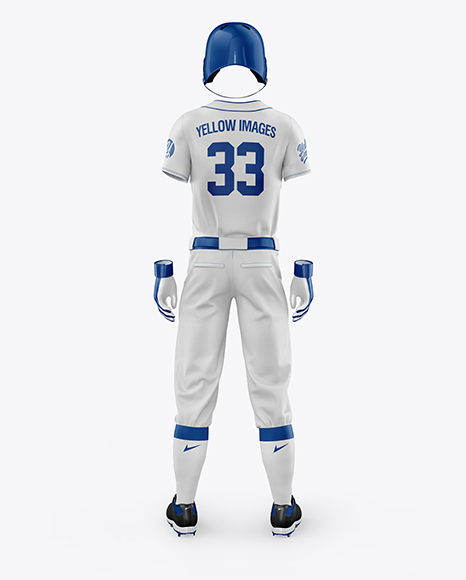 Men's Full Baseball Kit Mockup