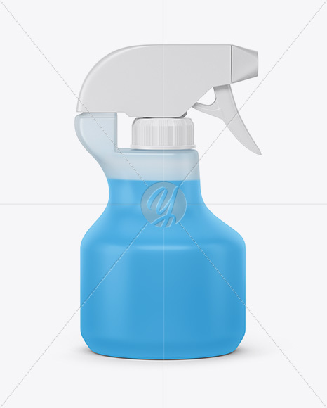 Download Opened Glossy Spray Bottle With Plastic Cap Mockup PSD - Free PSD Mockup Templates