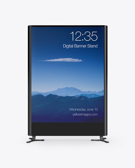 Advertising Display Mockup - Front View