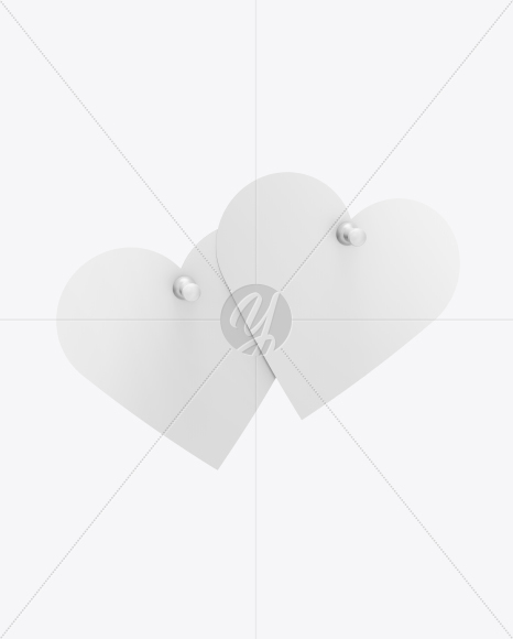 Two Heart Shaped Notes Mockup