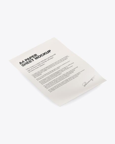 Paper Sheet Mockup Set