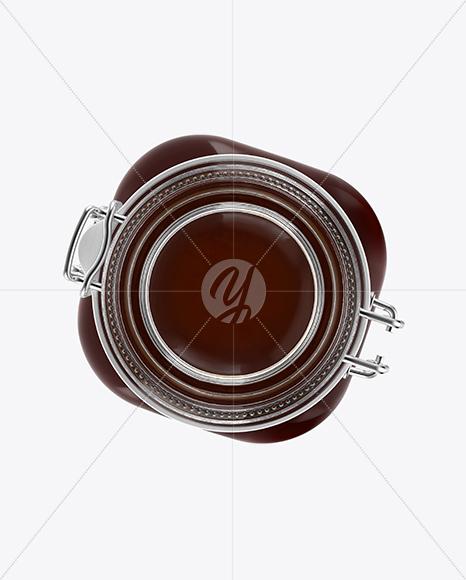 Glass Jar with Honey Mockup