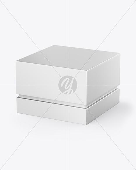 Gift Box Mockup - Half Side View