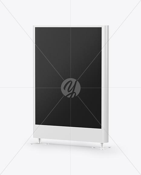 Advertising Display Mockup - Half Side View