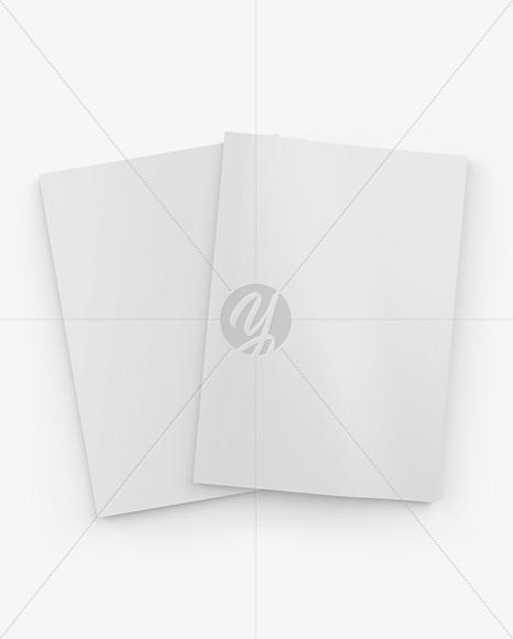 Textured A4 Magazines Mockup