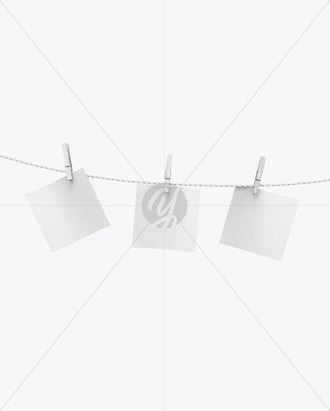 Hanging Snapshots Mockup