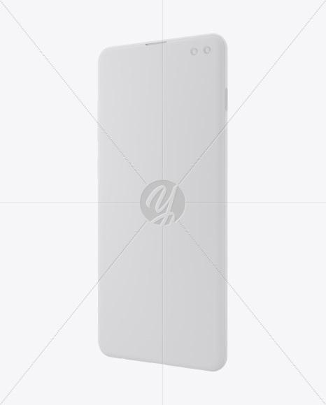 Clay Samsung Galaxy S10+ Mockup