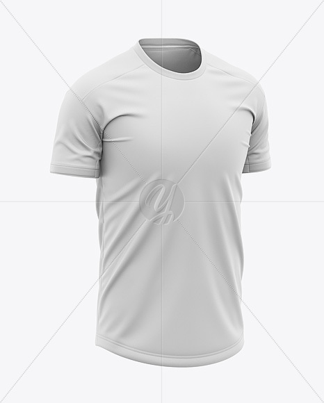 Men S Crew Neck Soccer Jersey Mockup Front Half Side View