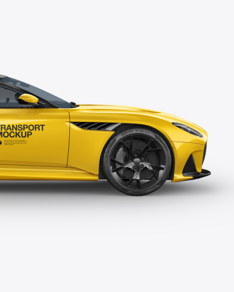 Sport Car Mockup - Side View