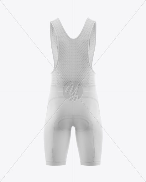 Men's Cycling Bib Shorts Mockup (Back View)