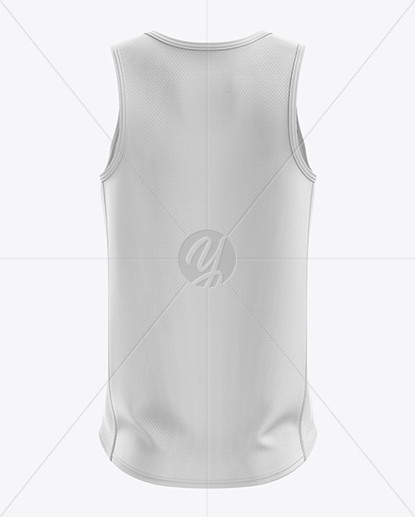 Men's Running Singlet mockup (Back View)