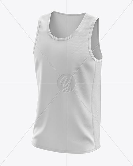 Men's Running Singlet mockup (Half Side View)