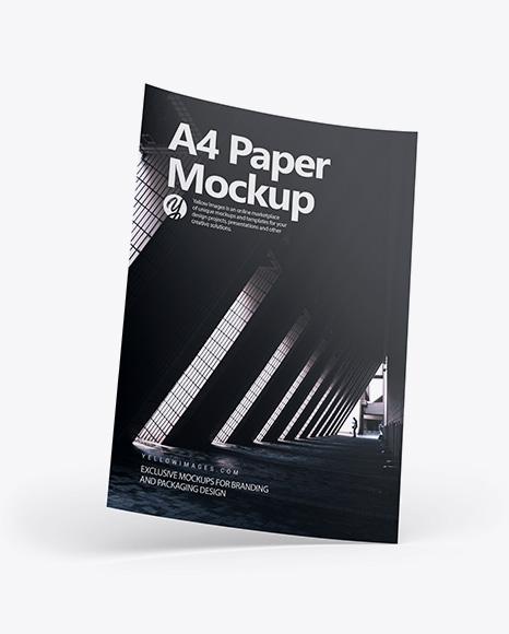 A4 Paper Mockup